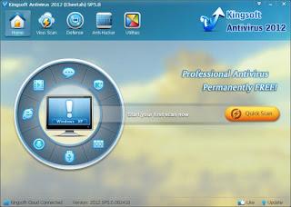 حماية الكمبيوتر من برامج التجسس والضارة Kingsoft Antivirus 2012 SP5.4 586367bda04b0a0e7914